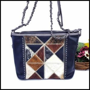 Trinity Ranch Tooled Leather Collection Hobo/Cross